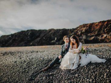 Iceland beach couple